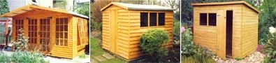 Wooden garden sheds and summer houses